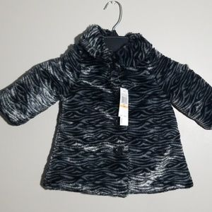 NWT Baby Girl Calvin Klein Faux Fur Coat